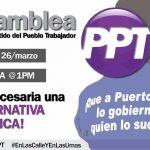 PPT reafirma su compromiso con la lucha contra la Junta y las políticas de austeridad